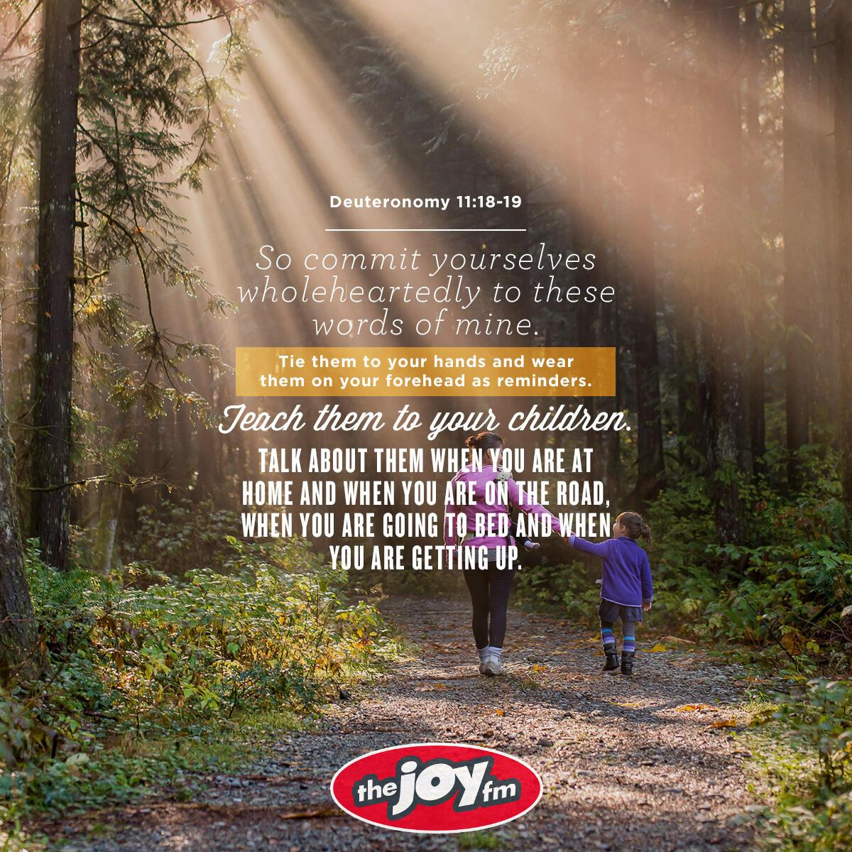 Deuteronomy 11:18-19 - Verse of the Day