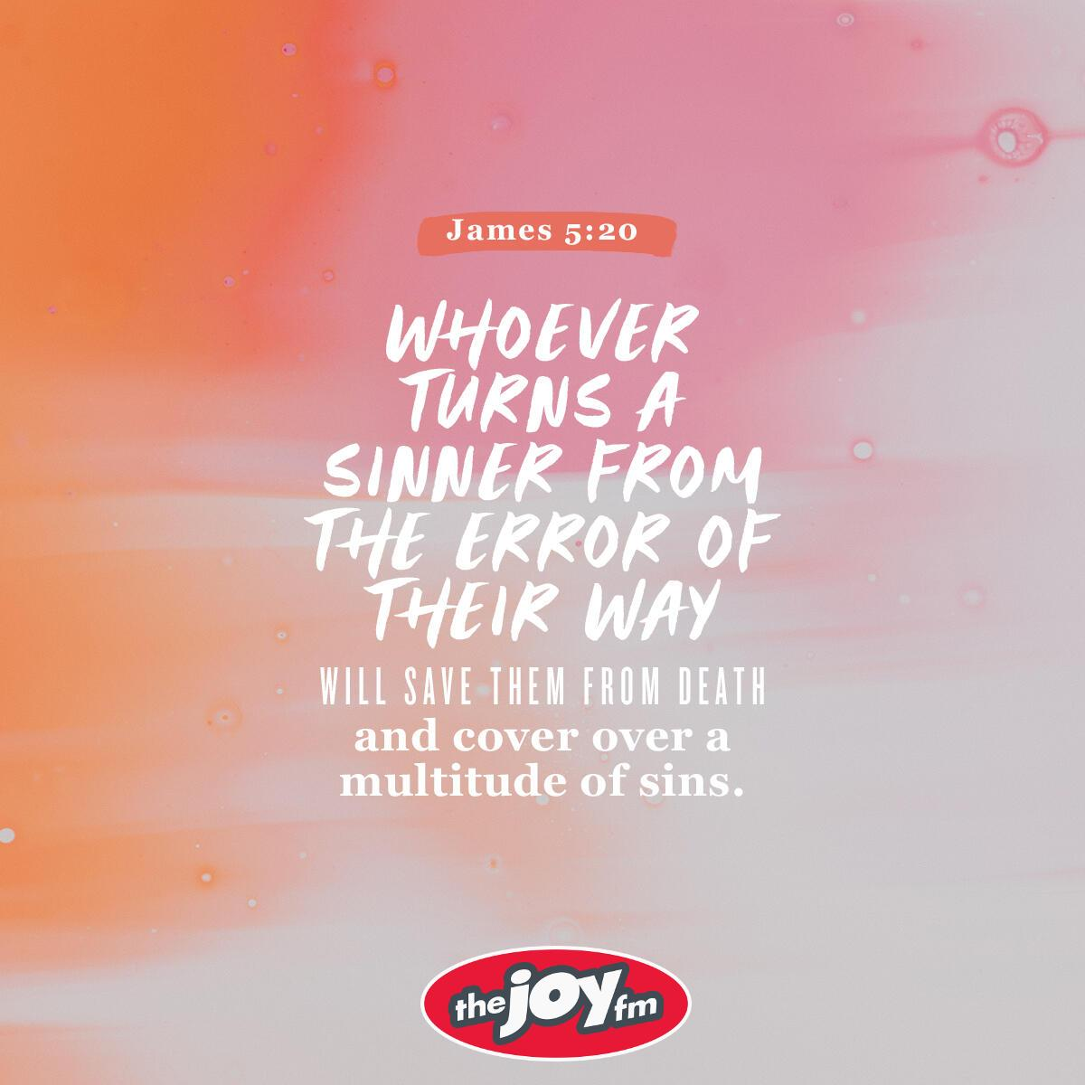 James 5:20 - Verse of the Day