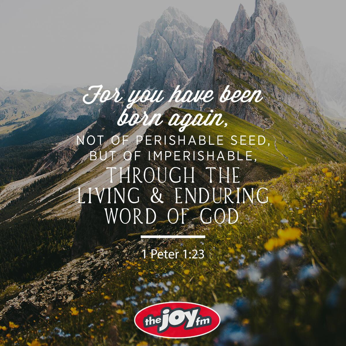 1 Peter 1:23 - Verse of the Day